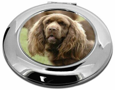 Sussex Spaniel Dog Make-Up Round Compact Mirror Christmas Gift, AD-SUS1CMR