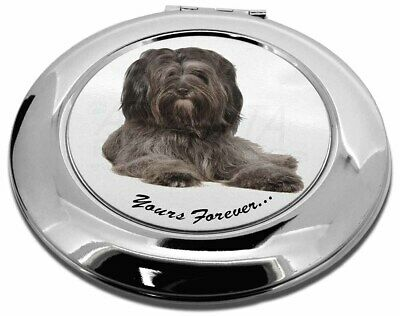 Tibetan Terrier 'Yours Forever'  Make-Up Round Compact Mirror Christ, AD-TT2yCMR