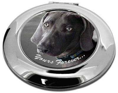 Weimaraner Dog 'Yours Forever' Make-Up Round Compact Mirror Christmas, AD-W79CMR