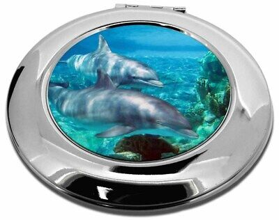 Dolphins Make-Up Round Compact Mirror Christmas Gift, AF-D3CMR