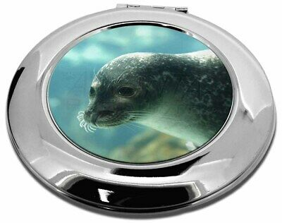 Sea Lion Make-Up Round Compact Mirror Christmas Gift, AF-S1CMR