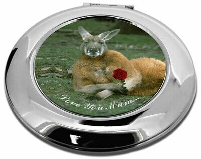 Kangaroo+Rose 'Love You Mum' Make-Up Round Compact Mirror Christmas, AK-1RlymCMR