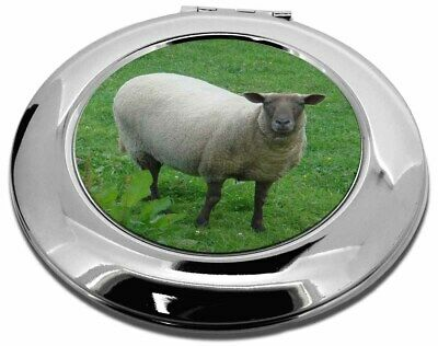 Sheep Intrigued by Camera Make-Up Round Compact Mirror Christmas Gift, ASH-5CMR