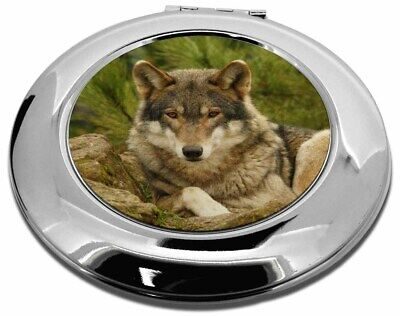 A Beautiful Wolf Make-Up Round Compact Mirror Christmas Gift, AW-10CMR