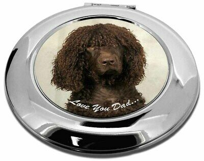 Irish Water Spaniel 'Love You Dad' Make-Up Round Compact Mirror Chris, DAD-59CMR