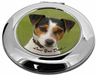 Jack Russell 'Love You Dad' Make-Up Round Compact Mirror Christmas Gi, DAD-60CMR