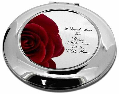 'If Grandmothers Were Roses' Make-Up Round Compact Mirror Christmas G, GRA-R5CMR