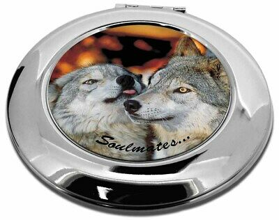 Wolves in Love 'Soulmates' Make-Up Round Compact Mirror Christmas Gi, SOUL-83CMR