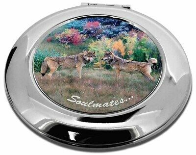 Wolves 'Soulmates' Sentiment Make-Up Round Compact Mirror Christmas , SOUL-84CMR