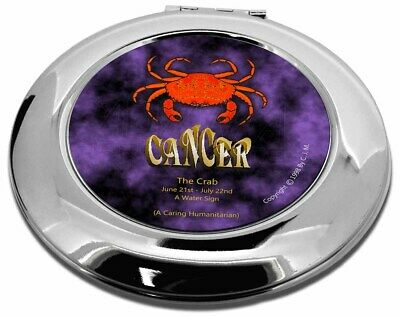 Cancer Star Sign Birthday Gift Make-Up Round Compact Mirror Christmas , ZOD-4CMR