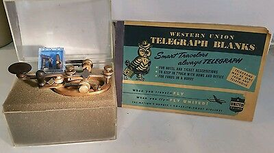 Vintage Brass Railroad Wu Western Union Telegraph Key W/ Leg R. Bunnell & Co.