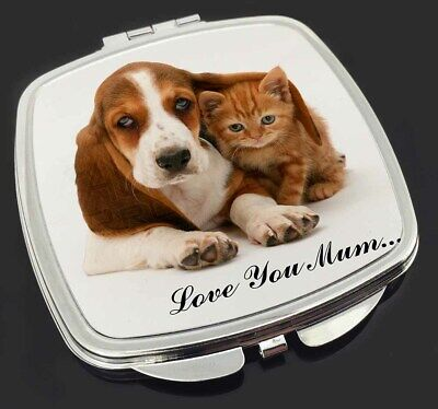 Basset and Cat 'Love You Mum' Make-Up Compact Mirror Stocking Fille, AD-BH1lymCM