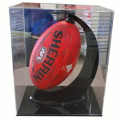 Perspex Vertical Football Case Rotating Stand