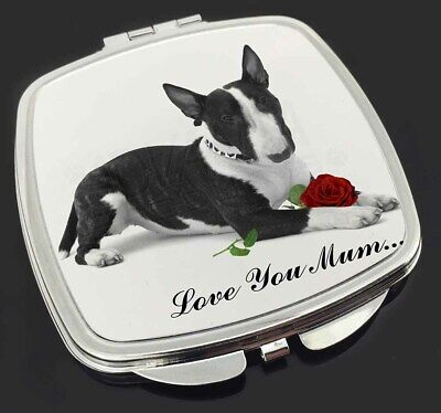 Bull Terrier (B+W) 'Love You Mum' Make-Up Compact Mirror Stockin, AD-BUT2R2lymCM