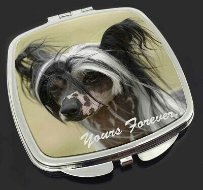 "Chinese Crested Dog ""Yours Forever..."" Make-Up Compact Mirror Stocki, AD-CHC2yCM"