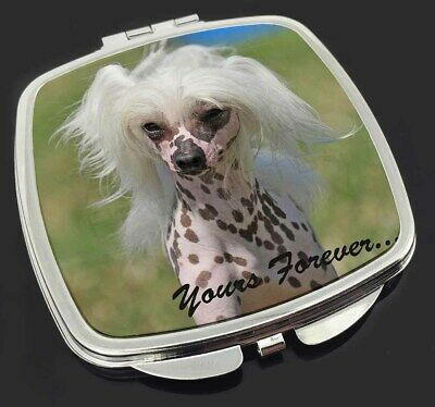 "Chinese Crested Dog ""Yours Forever..."" Make-Up Compact Mirror Stocki, AD-CHC4yCM"