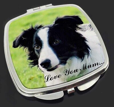 Border Collie Dog 'Love You Mum' Make-Up Compact Mirror Stocking F, AD-CO69lymCM