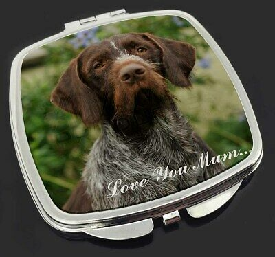 German Wirehaired Pointer 'Love You Mum' Make-Up Compact Mirror St, AD-GWP1lymCM