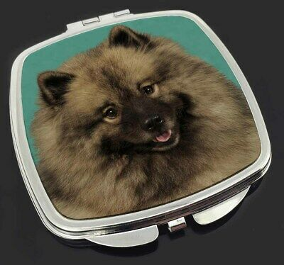 Keeshond Dog Make-Up Compact Mirror Stocking Filler Gift, AD-KEE1CM