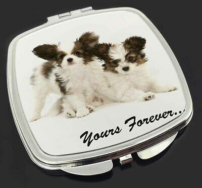 Papillon Dogs 'Yours Forever' Make-Up Compact Mirror Stocking Filler , AD-PA66CM