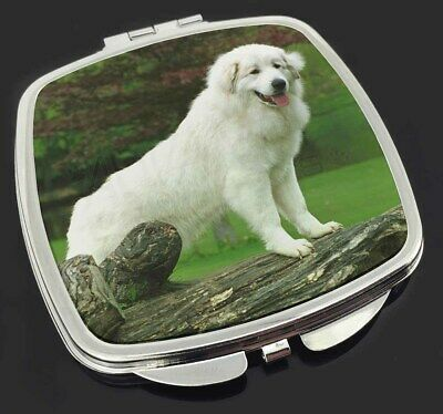 Pyrenean Mountain Dog Make-Up Compact Mirror Stocking Filler Gift, AD-PM1CM