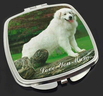 Pyrenean Mountain Dog 'Love You Mum' Make-Up Compact Mirror Stockin, AD-PM1lymCM