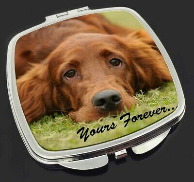 Red Setter Dog 'Yours Forever' Make-Up Compact Mirror Stocking Filler, AD-RS2yCM