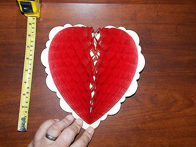 Valentine Heart Honeycomb Rare Old Vintage Decorations
