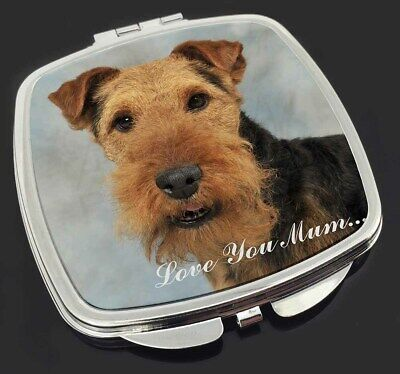 Welsh Terrier Dog 'Love You Mum' Make-Up Compact Mirror Stocking Fi, AD-WT1lymCM