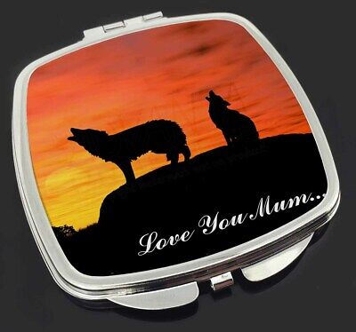 Sunset Wolves 'Love You Mum' Make-Up Compact Mirror Stocking Filler G, AW-5lymCM