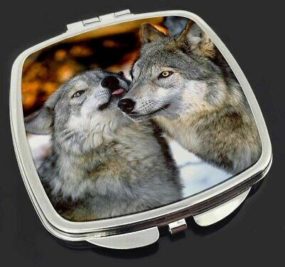 Wolves  in Love Make-Up Compact Mirror Stocking Filler Gift, AW-9CM