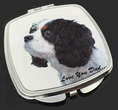 King Charles Spaniel 'Love You Dad' Make-Up Compact Mirror Stocking F, DAD-114CM