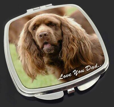 Sussex Spaniel 'Love You Dad' Make-Up Compact Mirror Stocking Filler , DAD-122CM