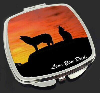 Sunset Wolves 'Love You Dad' Make-Up Compact Mirror Stocking Filler G, DAD-151CM
