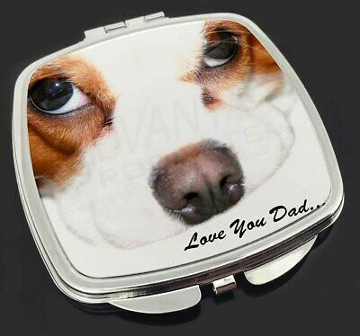 King Charles Spaniel 'Love You Dad' Make-Up Compact Mirror Stocking F, DAD-188CM