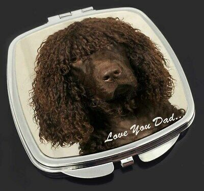 Irish Water Spaniel 'Love You Dad' Make-Up Compact Mirror Stocking Fil, DAD-59CM
