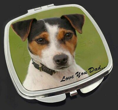 Jack Russell 'Love You Dad' Make-Up Compact Mirror Stocking Filler Gif, DAD-60CM