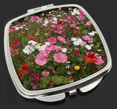 Poppies and Wild Flowers Make-Up Compact Mirror Stocking Filler Gift, FL-10CM