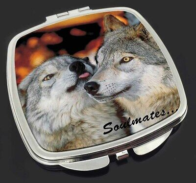 Wolves in Love 'Soulmates' Make-Up Compact Mirror Stocking Filler Gif, SOUL-83CM