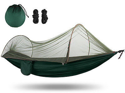 New Portable Nylon Outdoor Camping Hammock Mosquito Net Bed Travel High Strength