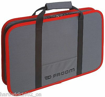 Facom Bv.16 Electricial Or Mechanics Zipped Case In Facom Tools Grey & Red