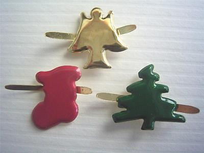BRADS XMAS MIX pk of 15 BULK christmas stocking  tree angel scrapbooking cards