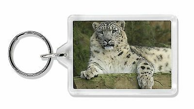 Beautiful Snow Leopard Photo Keyring Animal Gift, AT-47K