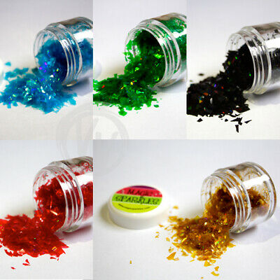 Edible Glitter Flakes MAGIC SPARKLES 15 Colours Cake Decorating White Gold Blue