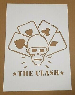 The Clash cardboard Stencil, straight to hell, should I stay or should I go