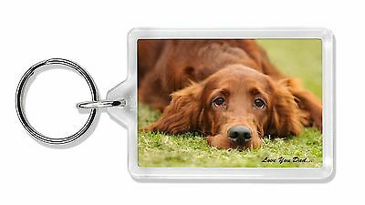 Red Setter Dpg 'Love You Dad' Photo Keyring Animal Gift, DAD-93K