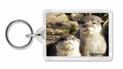 Cute Otters 'Soulmates' Photo Keyring Animal Gift, SOUL-72K