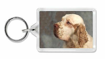 Clumber Spaniel Dog Photo Keyring Animal Gift, AD-CS1K