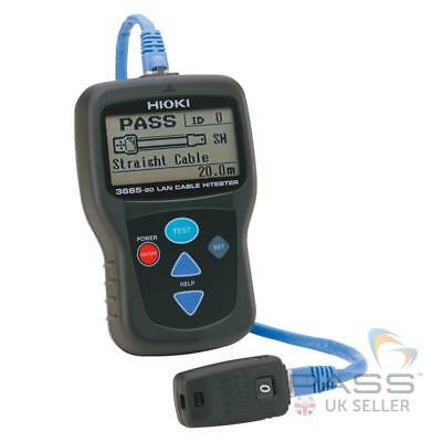 Hioki 3665-20 LAN Cable Tester - Portable, Compatible with CAT 3/4/5/5e/6 / UK S