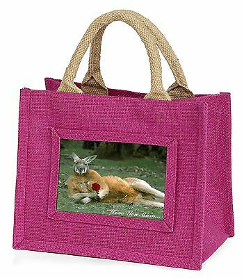 Kangaroo+Rose 'Love You Mum' Little Girls Small Pink Shopping Bag C, AK-1RlymBMP